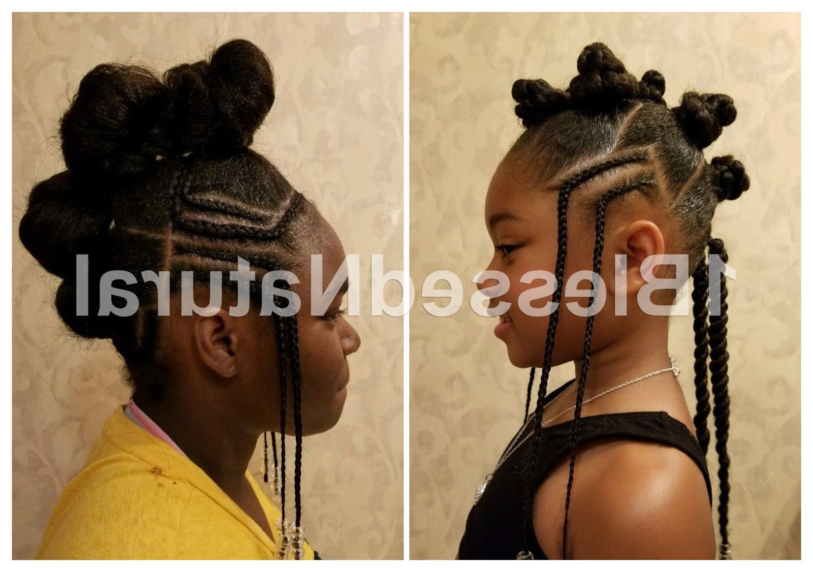1bn Kids: Little Girl Natural Hairstyles (part 1) In Most Recently Released Braided Bantu Knots Mohawk Hairstyles (View 14 of 20)