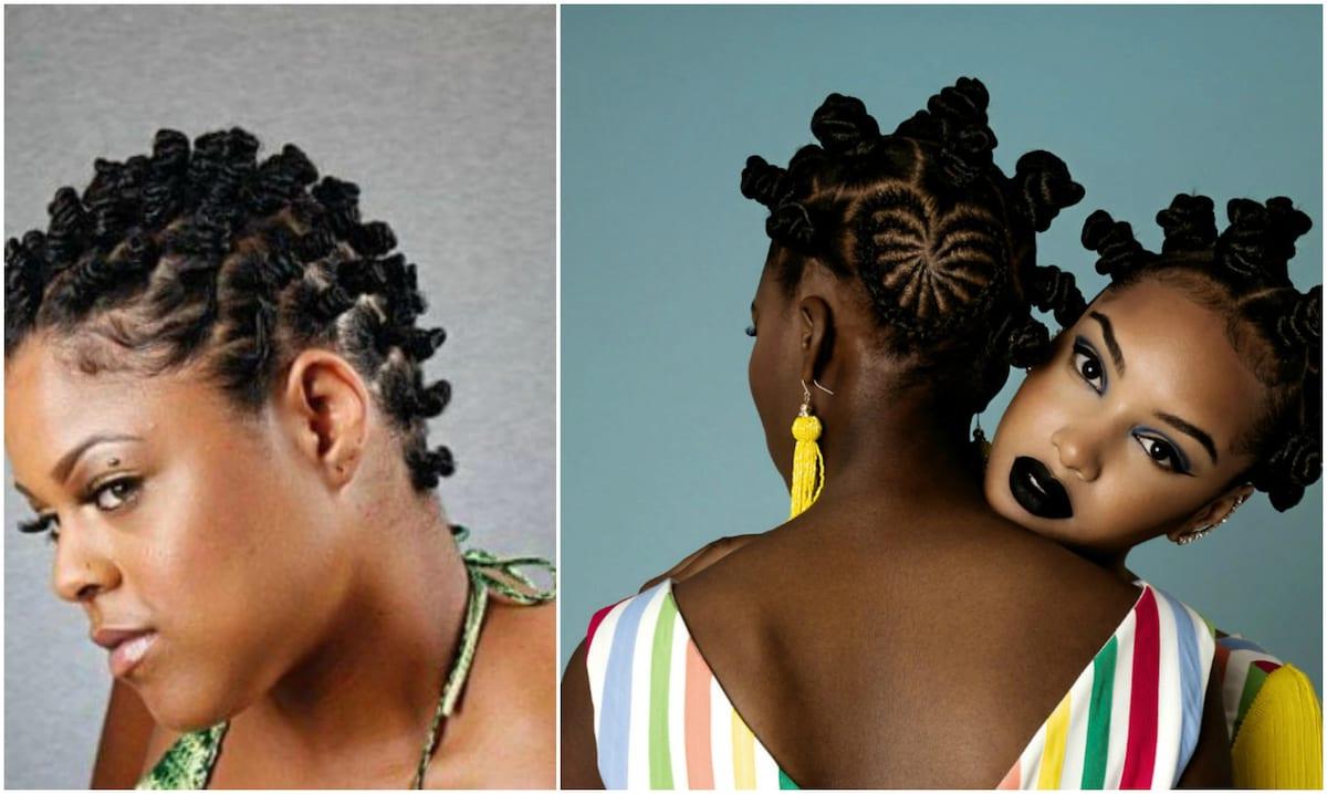20 Beautiful Bantu Knots Hairstyles On Short Hair ▷ Tuko.co (View 17 of 20)