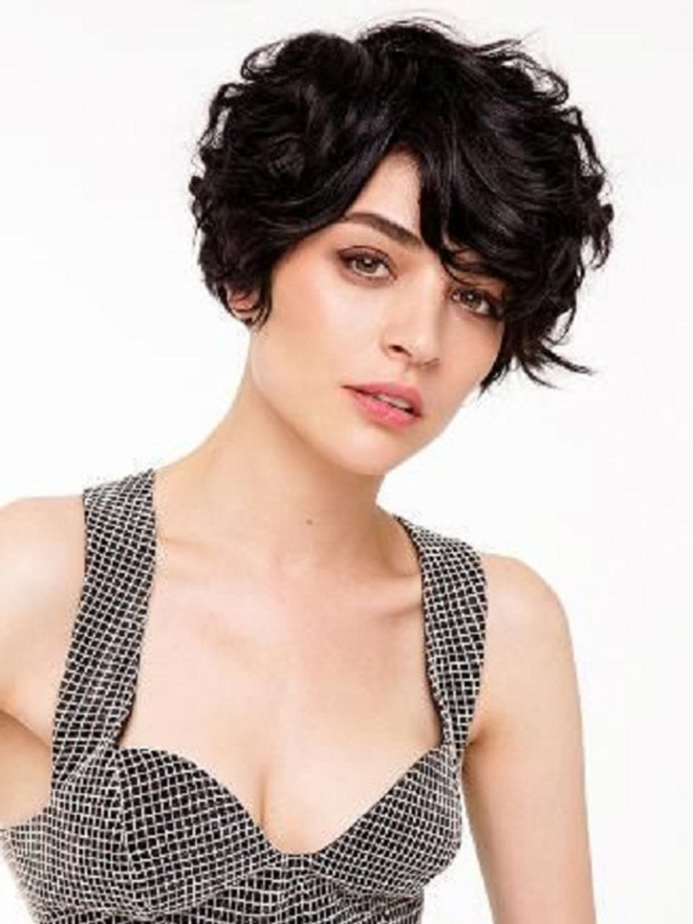 20 Lovely Wavy & Curly Pixie Styles: Short Hair – Popular In Pixie Haircuts With Large Curls (View 4 of 20)