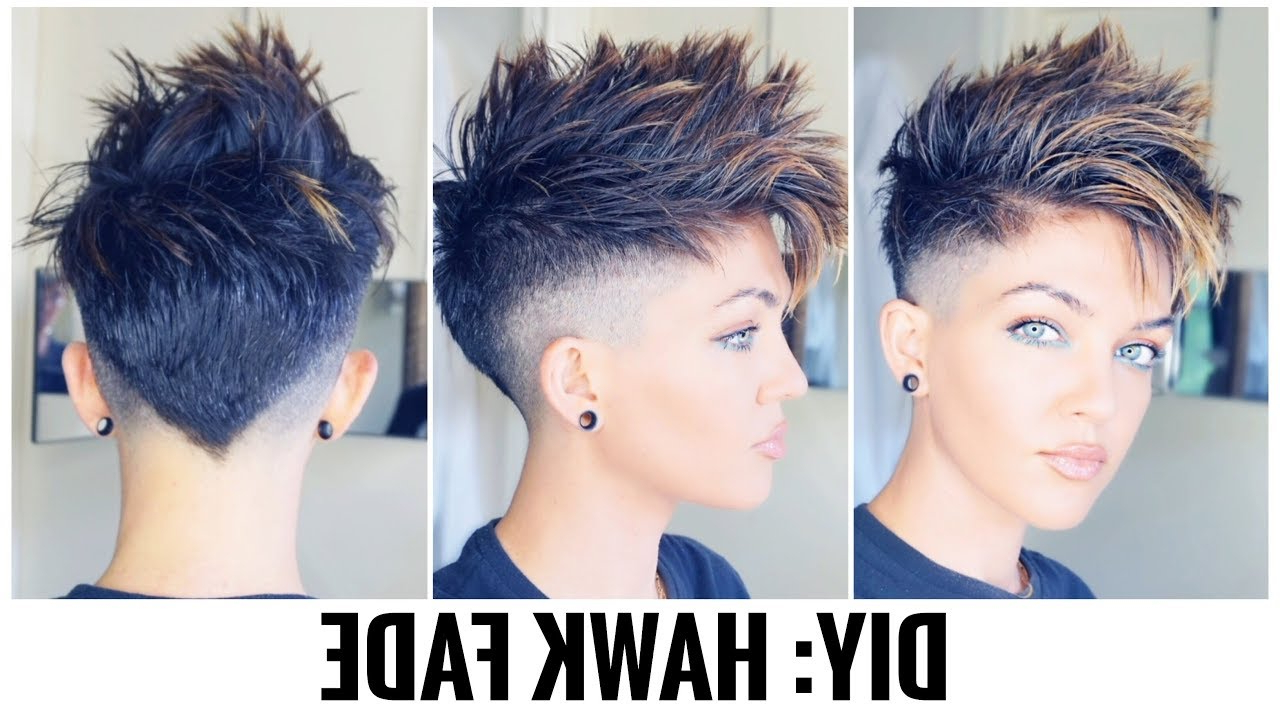 2020 Classy Faux Mohawk Haircuts For Women Pertaining To Diy: Hawk Fade (View 7 of 20)