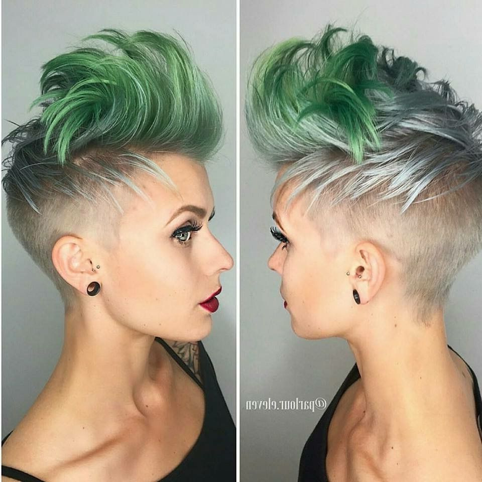 2020 Short Hair Inspired Mohawk Hairstyles Inside Pinheather Schneider On Hair In  (View 2 of 20)