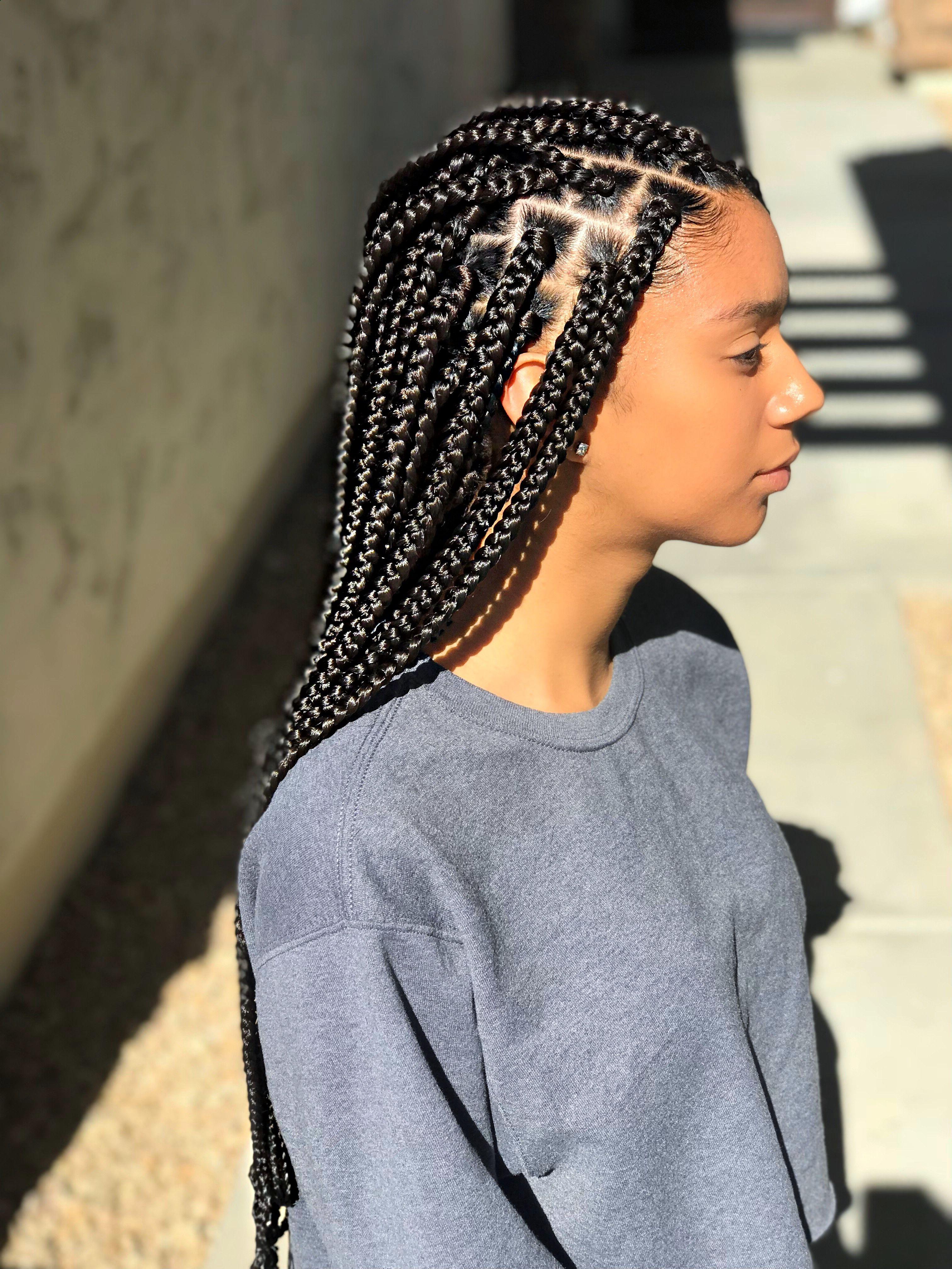 2021 Latest Box Braids Mohawk Hairstyles
