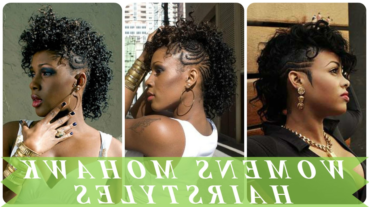 2021 Curly Beach Mohawk Hairstyles Throughout Womens Mohawk Hairstyles For Black & African American Women (View 10 of 20)