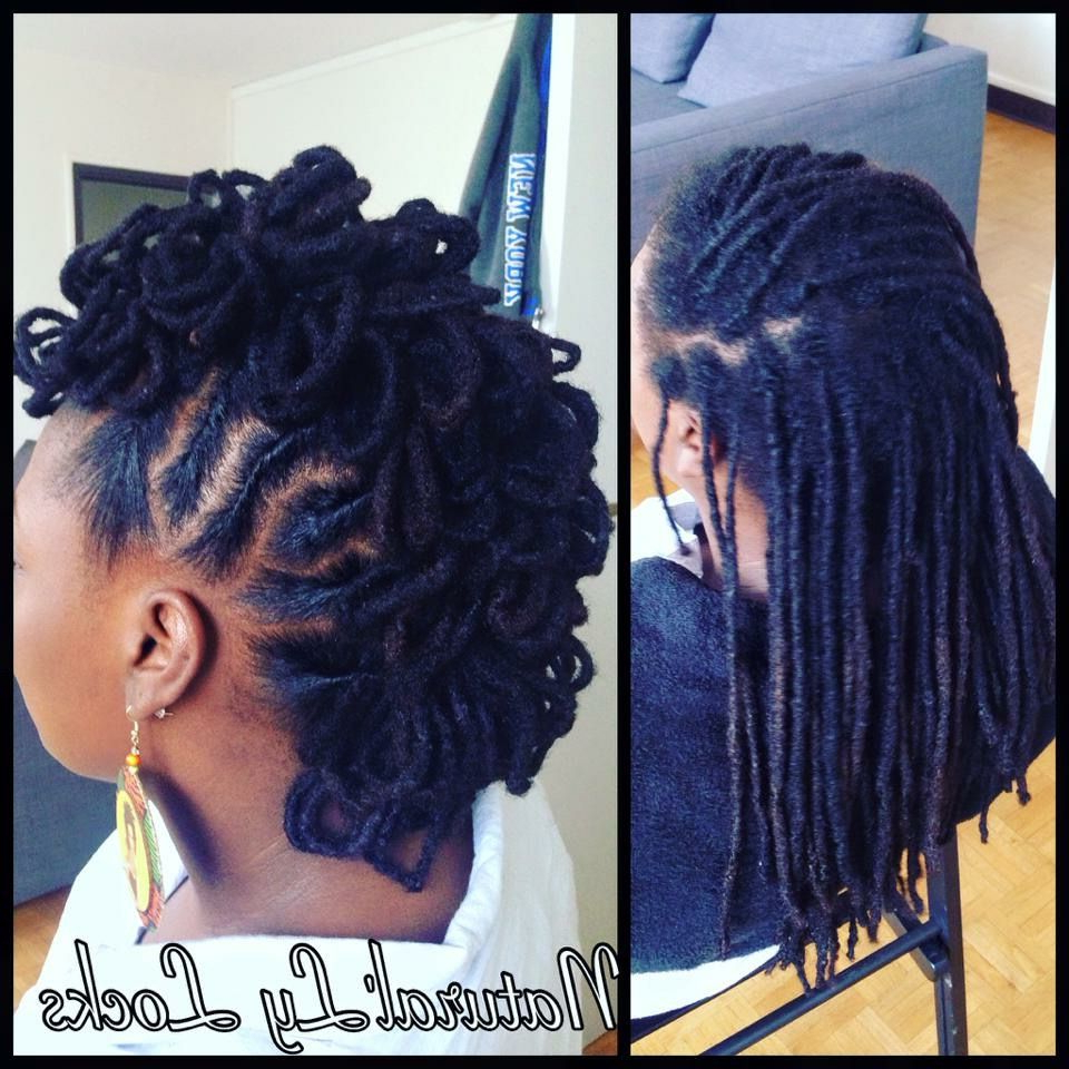 2021 Dreadlocked Mohawk Hairstyles For Women Within Loc Petals Faux Hawk (View 11 of 20)