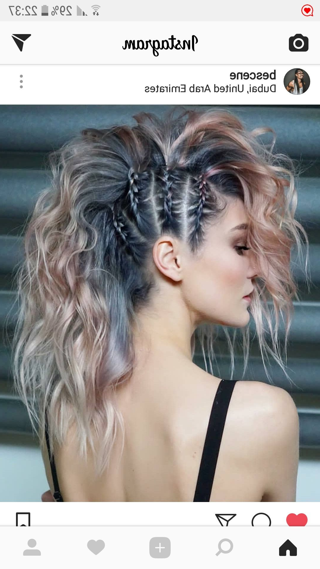 2021 Faux Mohawk Hairstyles With Springy Curls Pertaining To Pin On Hair Styles & Color (View 9 of 20)