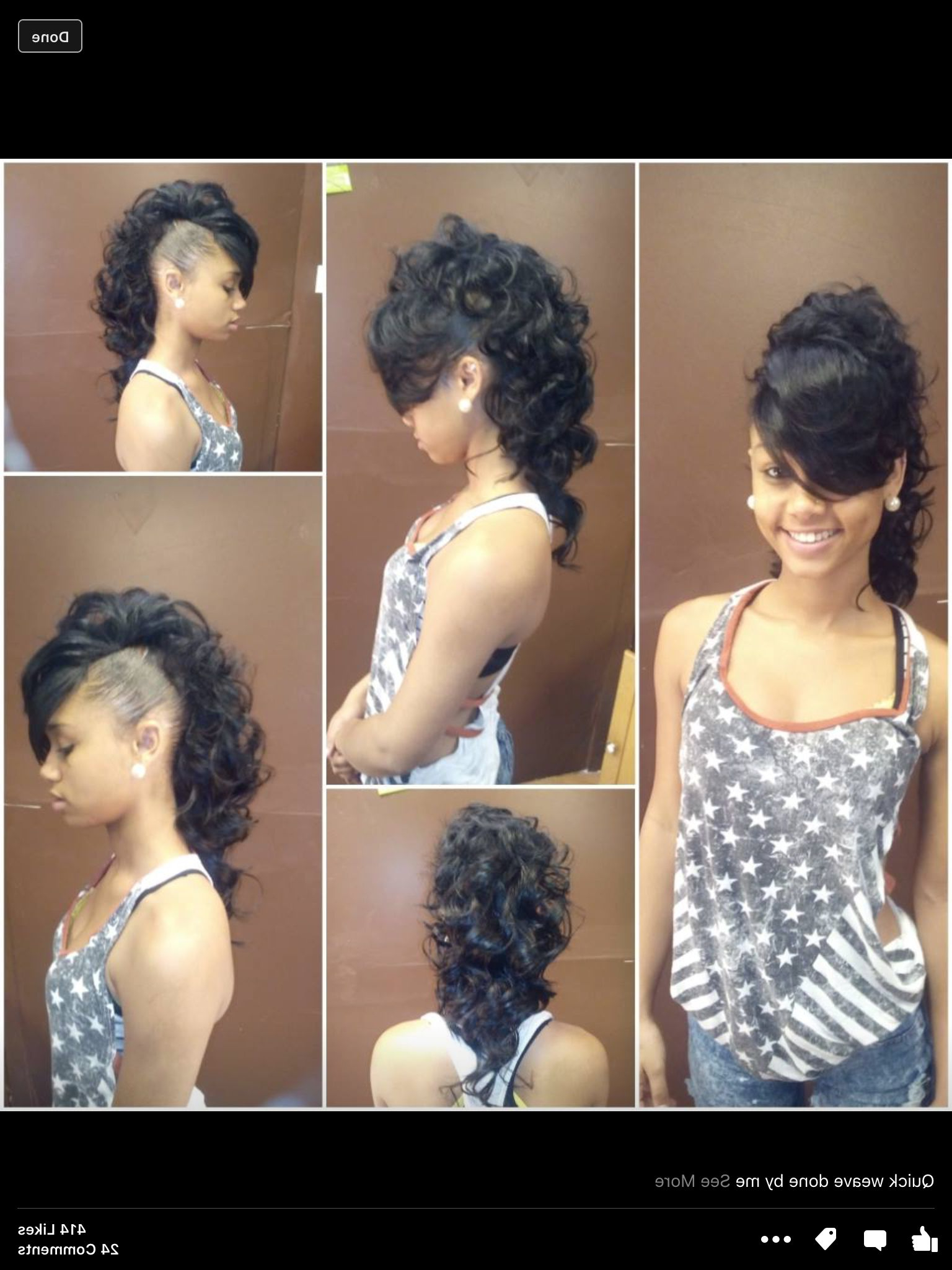 2021 Short And Curly Faux Mohawk Hairstyles Throughout Mohawk Creative Style Weave (View 5 of 20)