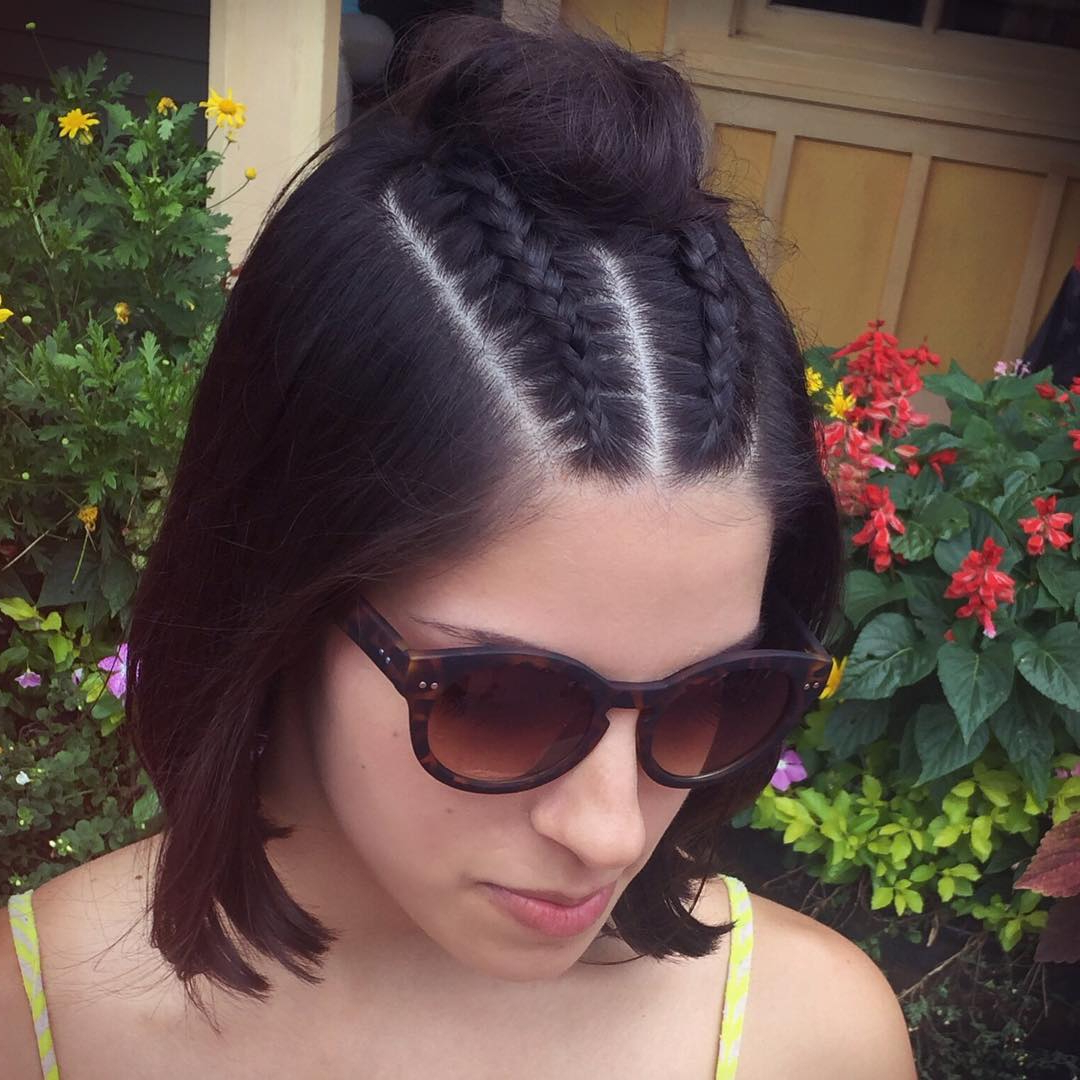 25 Cute Short Hairstyle With Braids – Braided Short Haircuts Throughout Pretty Short Bob Haircuts With Braid (View 11 of 20)