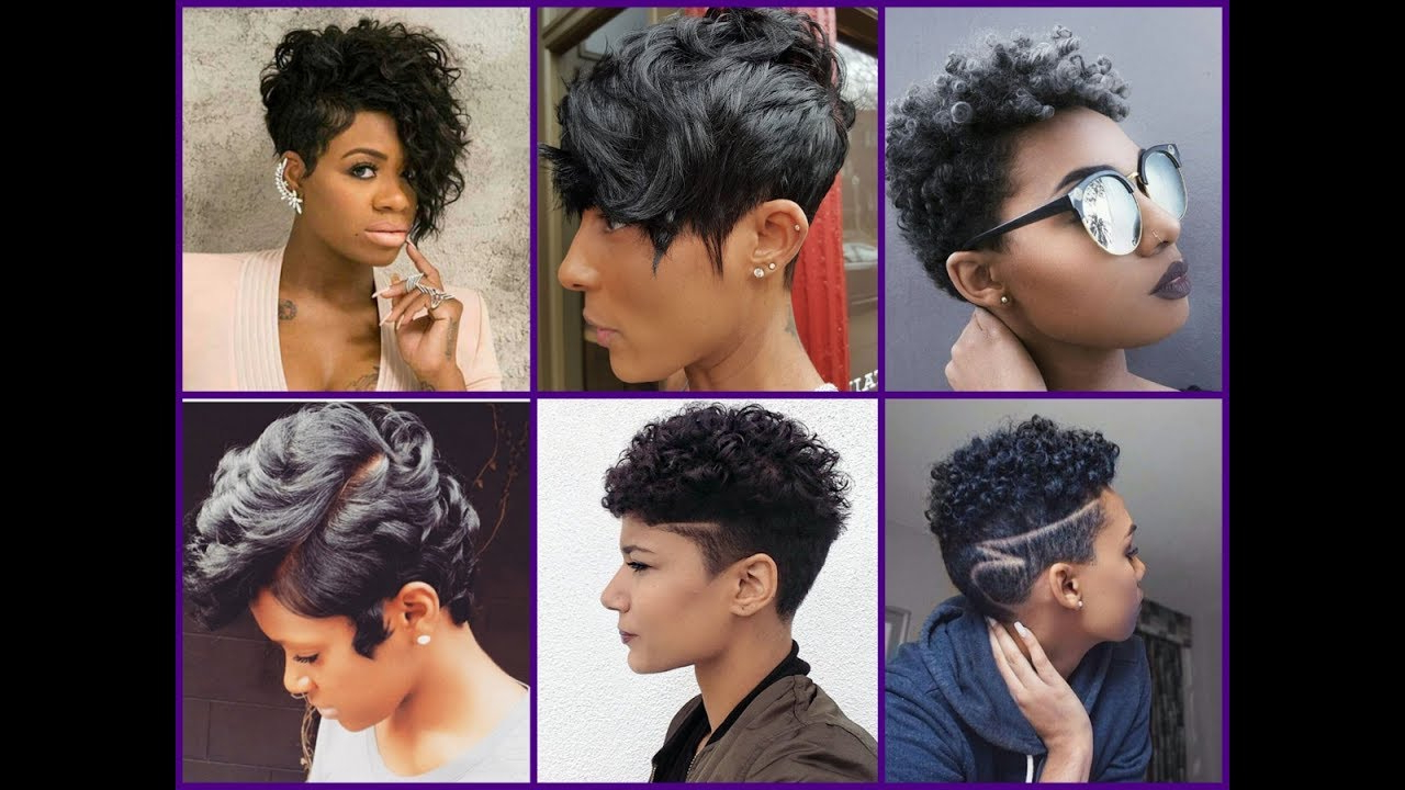 25 New Short Haircuts For Black Women – Trendy Haircuts For African American Women Throughout Popular Asymmetrical Chop Mohawk Haircuts (View 17 of 20)