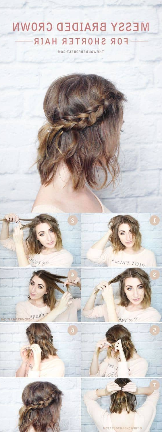 27 Braid Hairstyles For Short Hair That Are Simply Gorgeous Intended For Pretty Short Bob Haircuts With Braid (View 12 of 20)