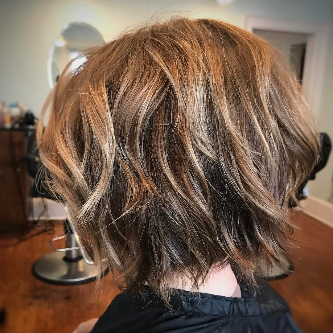 28 Best New Short Layered Bob Hairstyles – Page 2 Of 6 Inside Short Bob Haircuts With Waves (View 10 of 20)