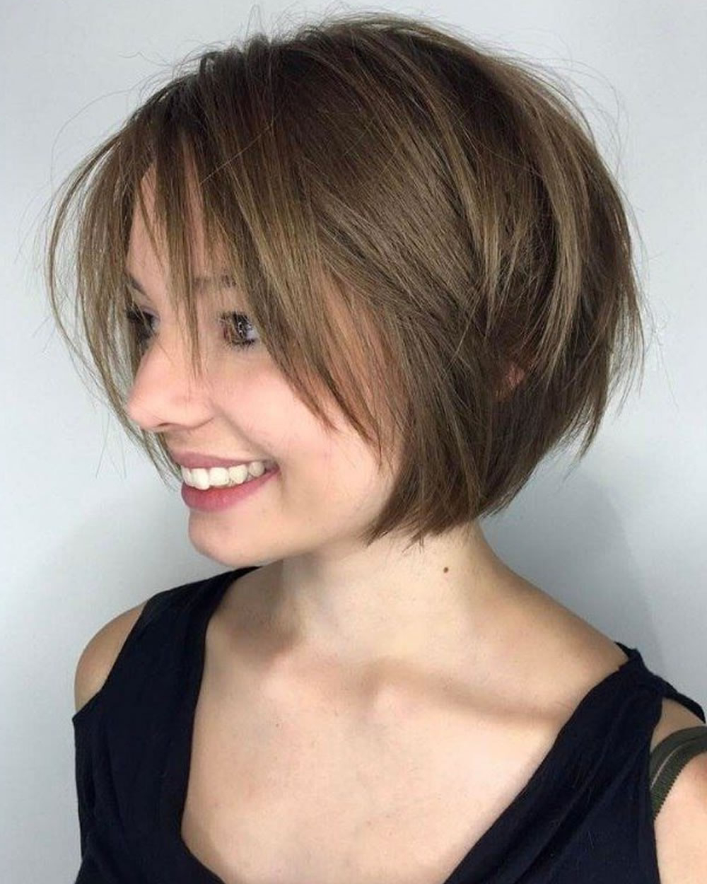 33 Best Short Bob Haircuts With Bangs And Layered Bob Intended For Hort Bob Haircuts With Bangs (Gallery 6 of 20)
