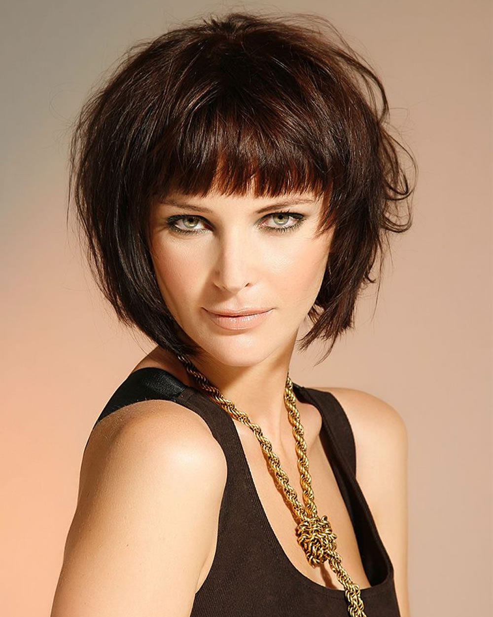 33 Best Short Bob Haircuts With Bangs And Layered Bob Within Hort Bob Haircuts With Bangs (Gallery 4 of 20)