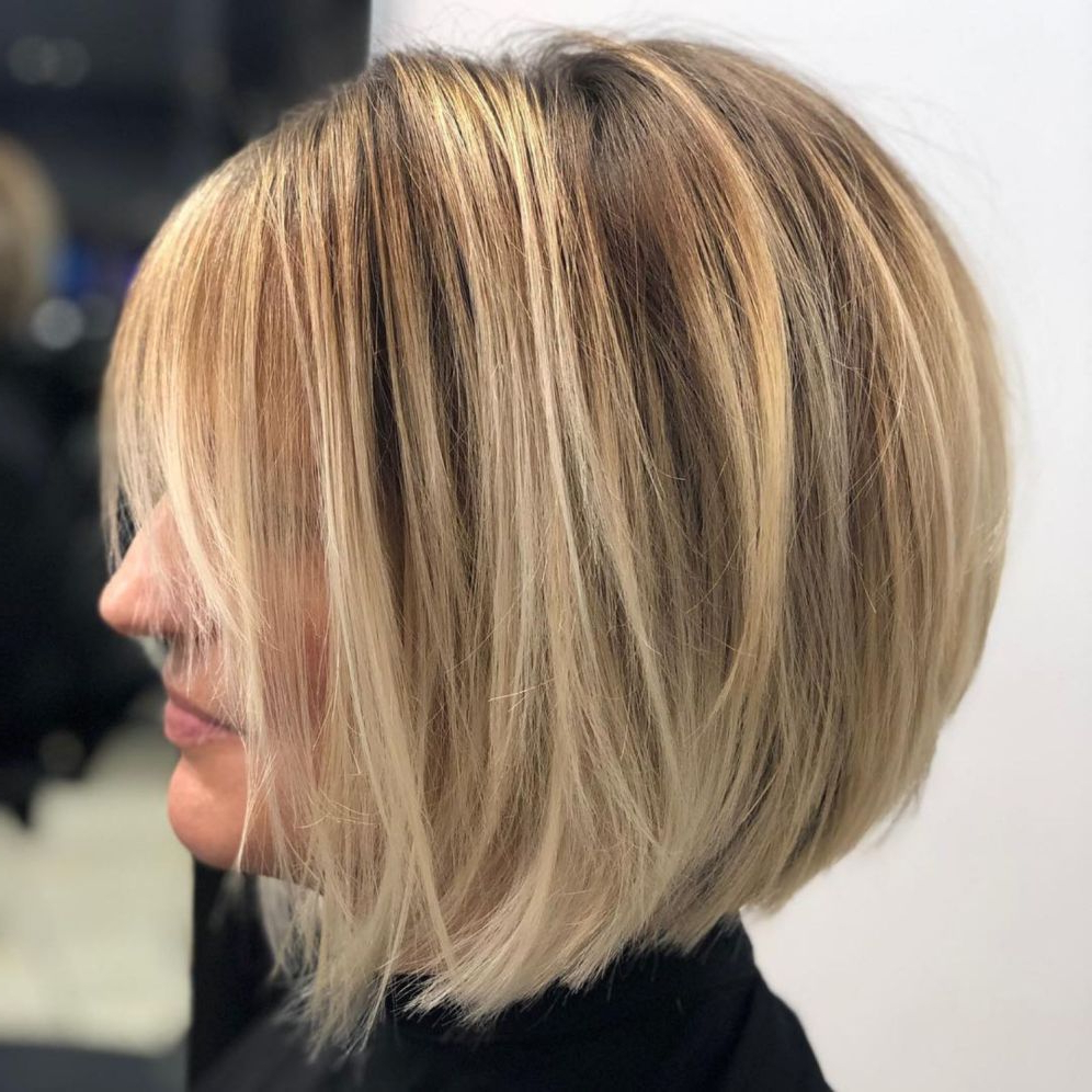 34 Stylish Layered Bob Hairstyles – Eazy Glam With Glam Blonde Bob Haircuts (View 7 of 20)