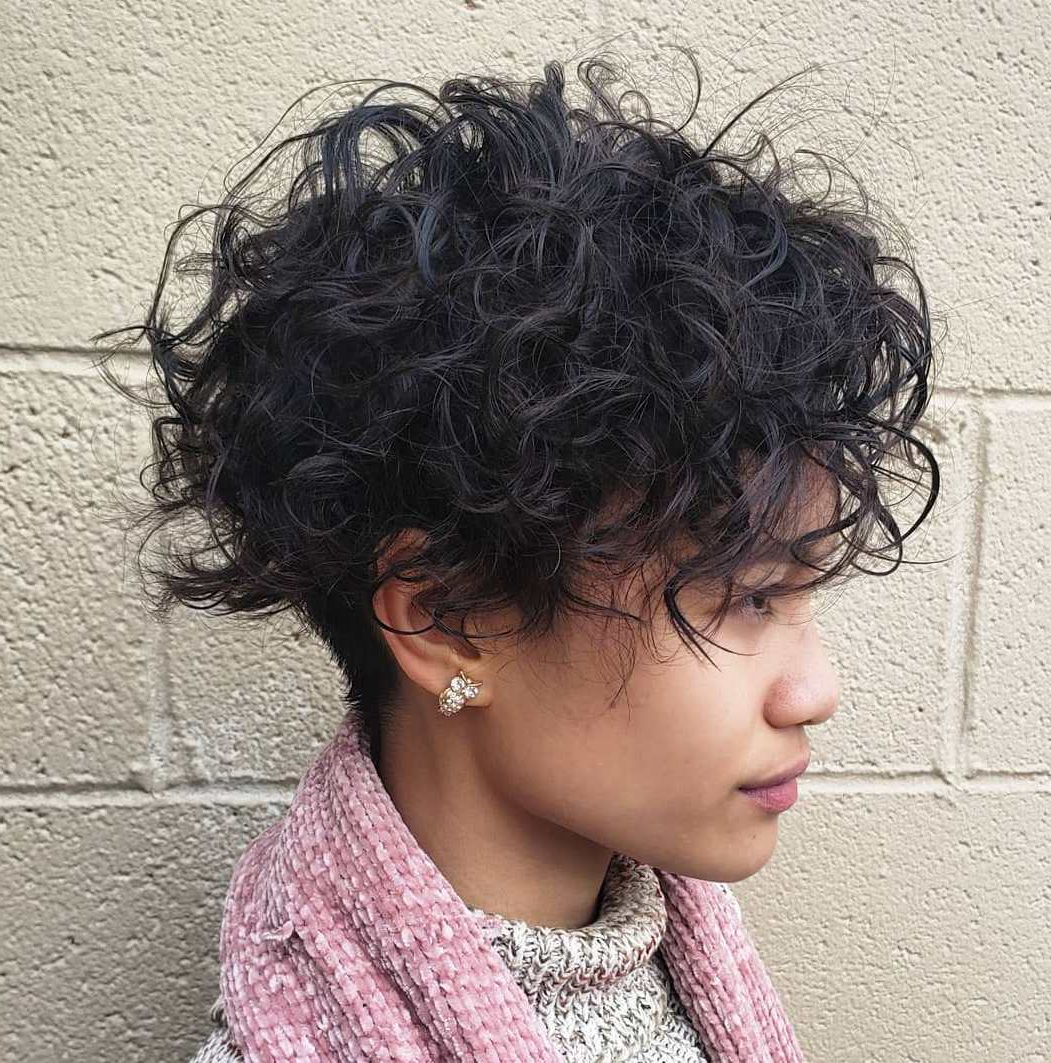 35 Cool Perm Hair Ideas Everyone Will Be Obsessed With In 2019 Inside Pixie Haircuts With Tight Curls (View 10 of 20)