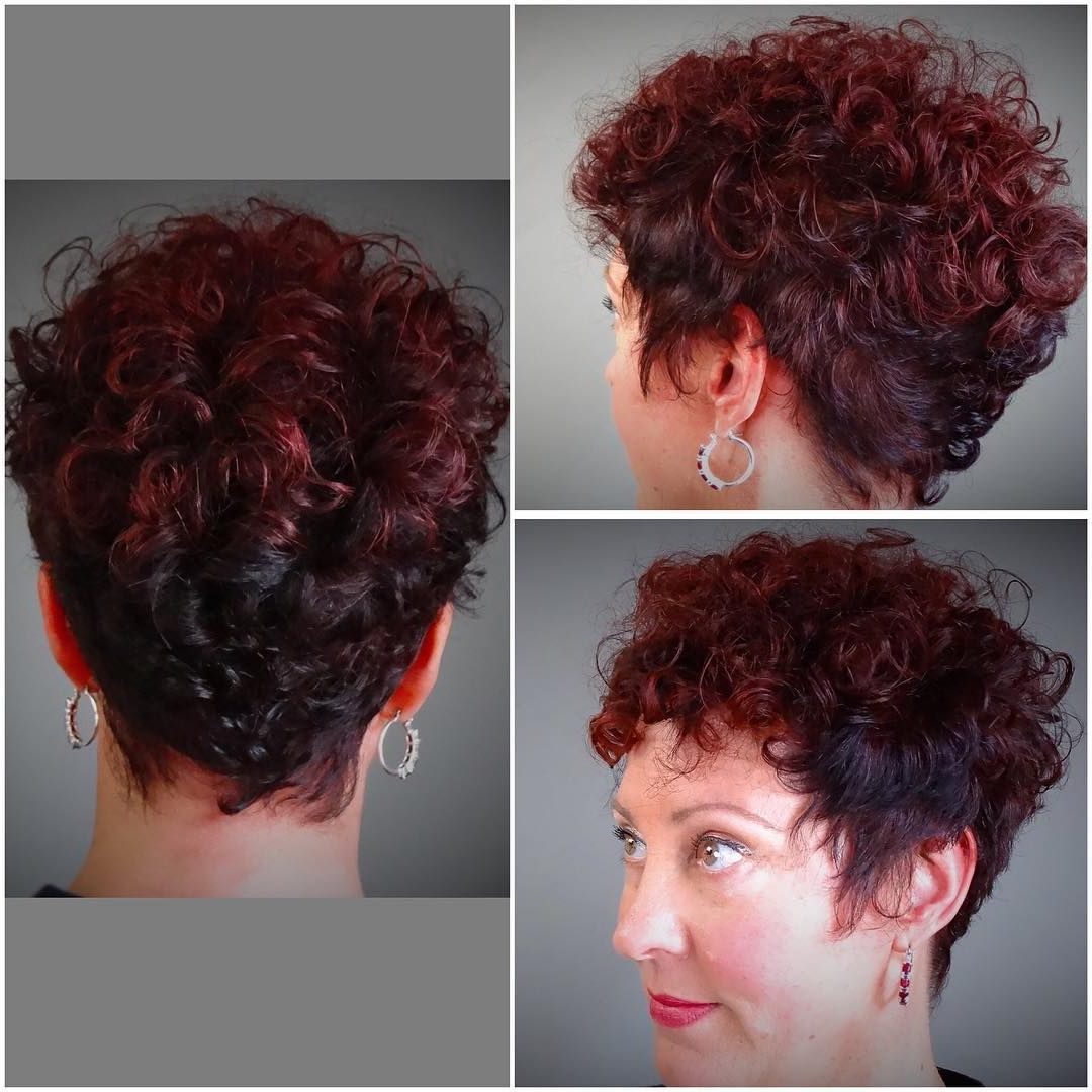 35 Stunning Curly Mohawk Hairstyles — Cuteness And Boldness Regarding Most Current Curly Red Mohawk Hairstyles (Gallery 4 of 20)