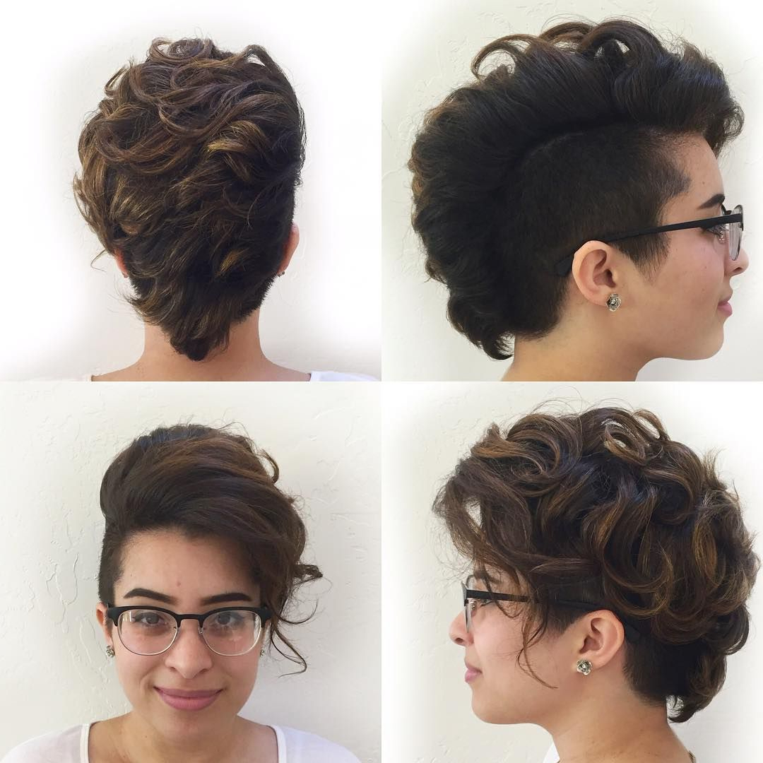 Featured Photo of Short And Curly Faux Mohawk Hairstyles