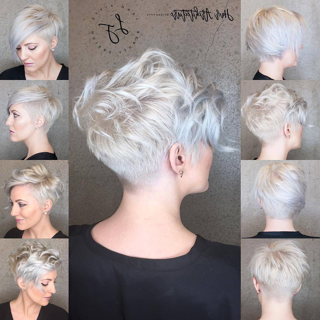40 Best Short Hairstyles For Fine Hair 2020 For Blonde Pixie Haircuts With Curly Bangs (View 18 of 20)