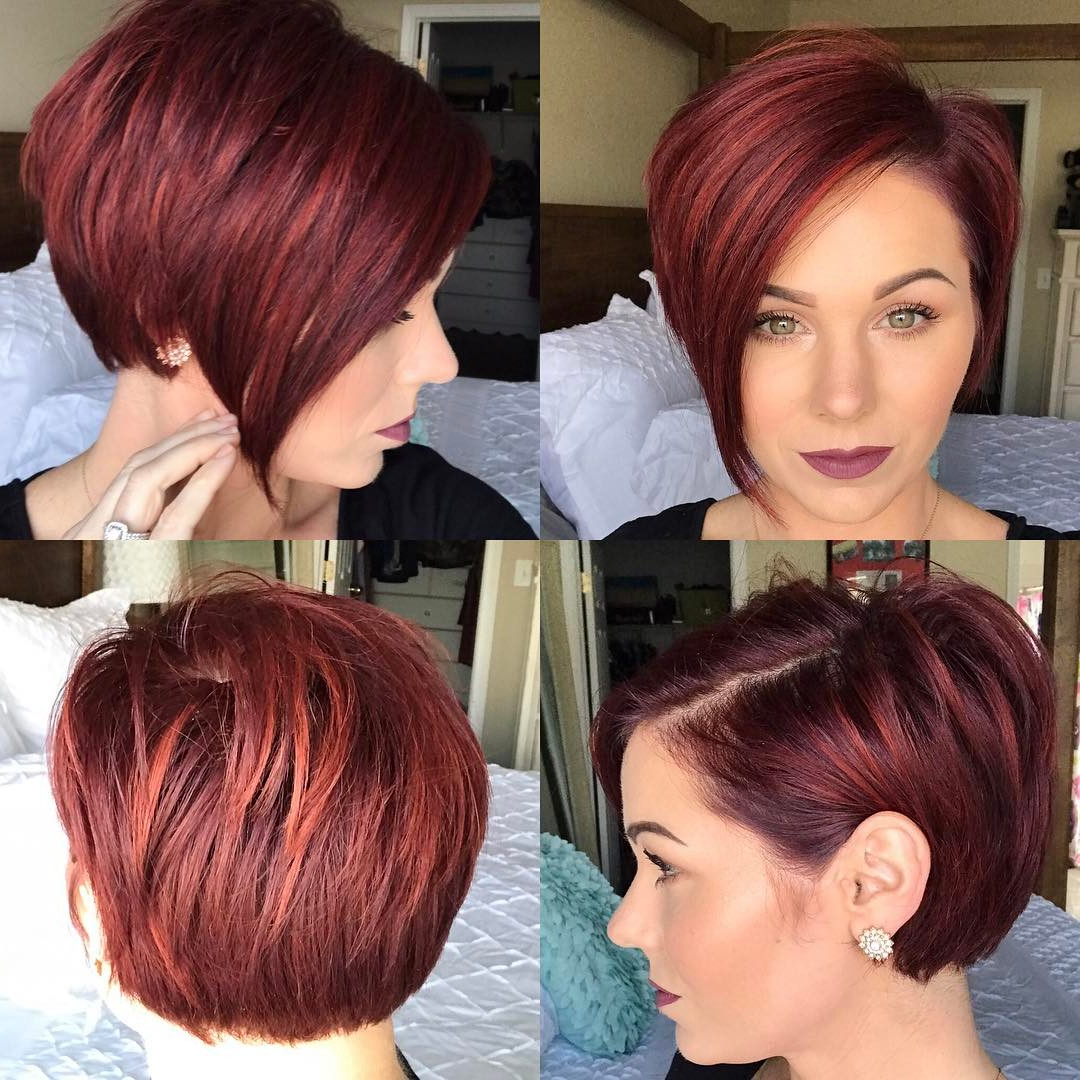 40 Hottest Short Hairstyles, Short Haircuts 2020 – Bobs Intended For Edgy Red Hairstyles (View 17 of 20)