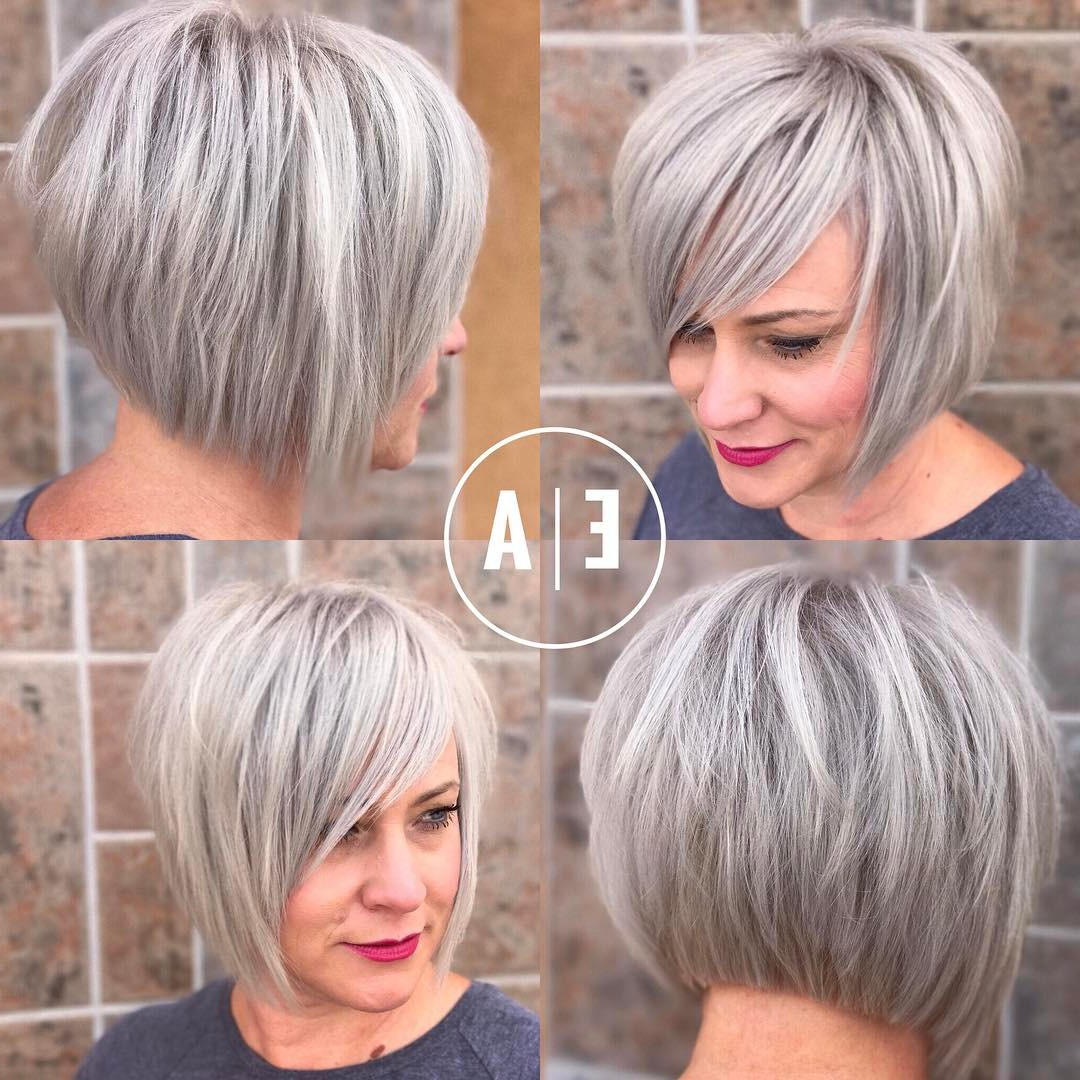 45 Trendy Short Hair Cuts For Women 2020 – Popular Short Intended For Silver Short Bob Haircuts (View 8 of 20)