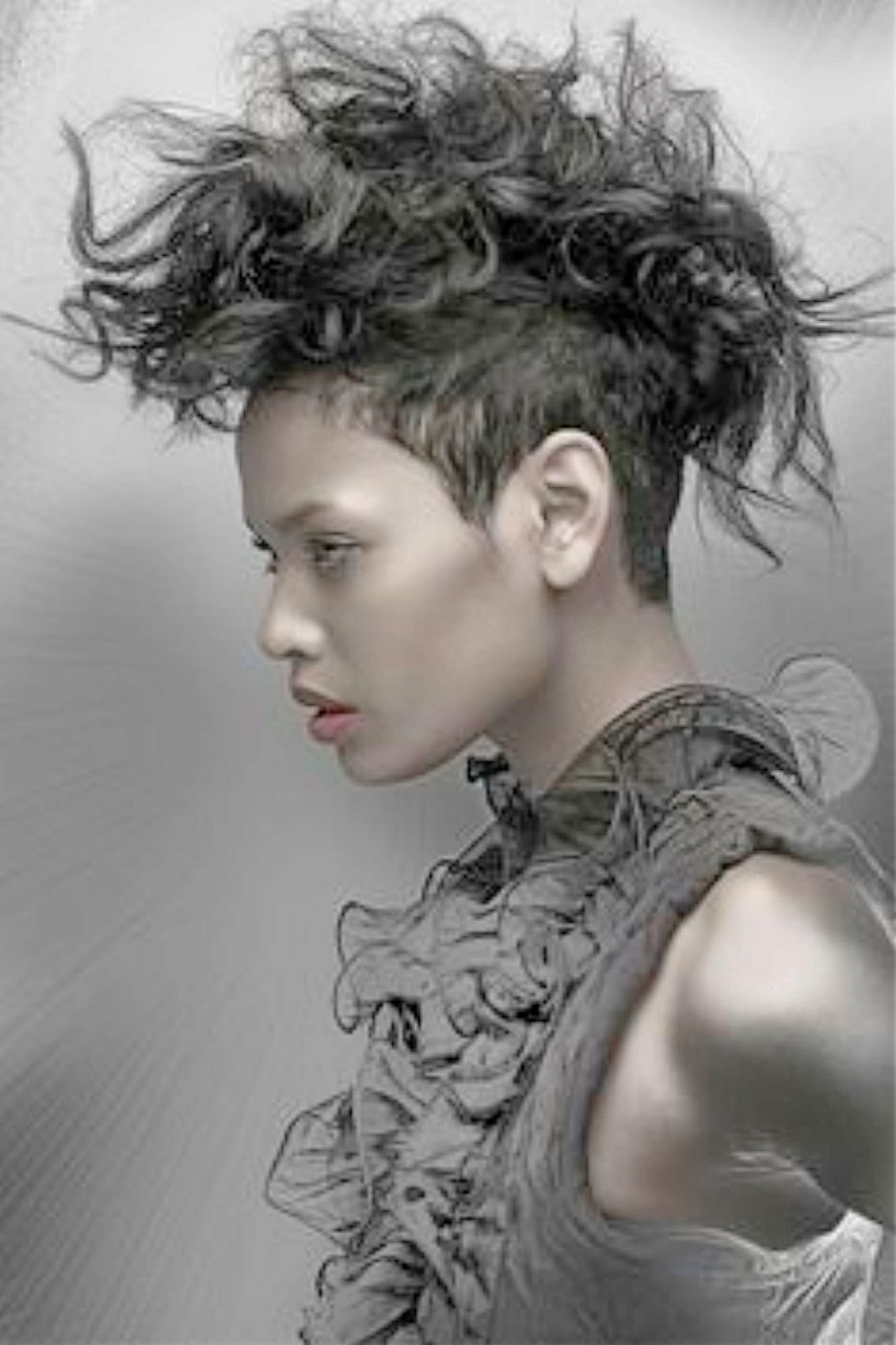 5 Best Grey Mohawk Hairstyle For Black & White Women Within Most Popular Blonde Curly Mohawk Hairstyles For Women (View 5 of 20)