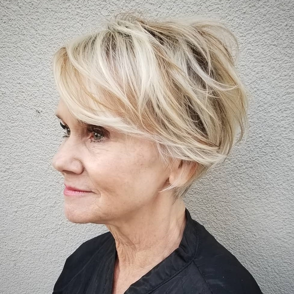 50 Hottest Pixie Cut Hairstyles In 2019 For Blonde Pixie Haircuts With Curly Bangs (View 15 of 20)