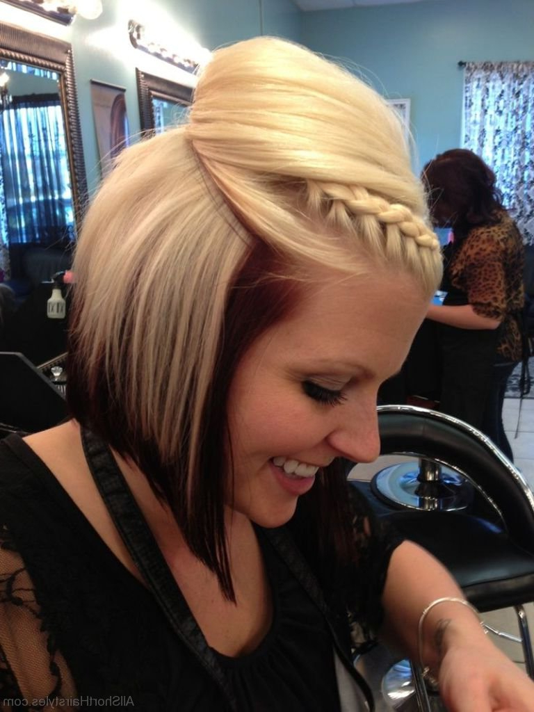 56 Cute Short Braid Haircuts For Sweet Girls Intended For Pretty Short Bob Haircuts With Braid (View 17 of 20)