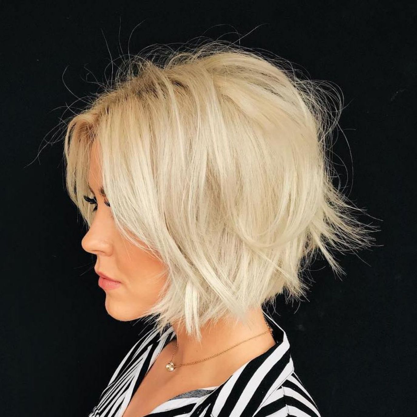 60 Layered Bob Styles: Modern Haircuts With Layers For Any Throughout Modern And Stylish Blonde Bob Haircuts (View 13 of 20)