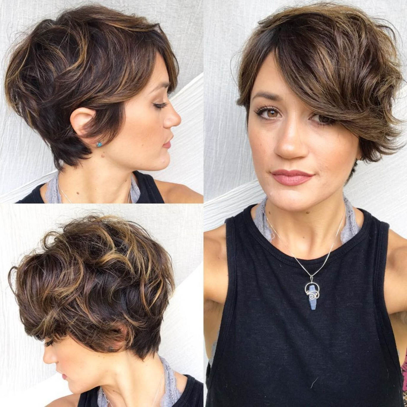 60 Short Shag Hairstyles That You Simply Can't Miss In Curly Pixie Haircuts With Highlights (View 10 of 20)
