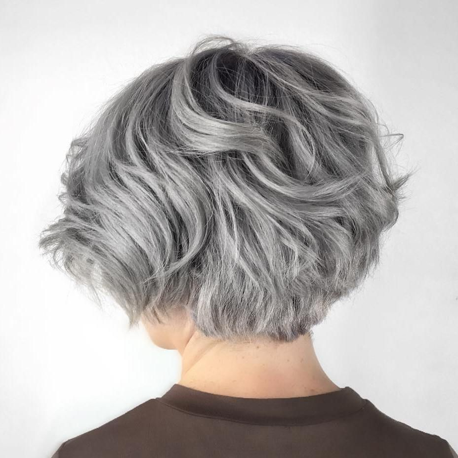 70 Cute And Easy To Style Short Layered Hairstyles In 2019 With Silver Short Bob Haircuts (View 3 of 20)