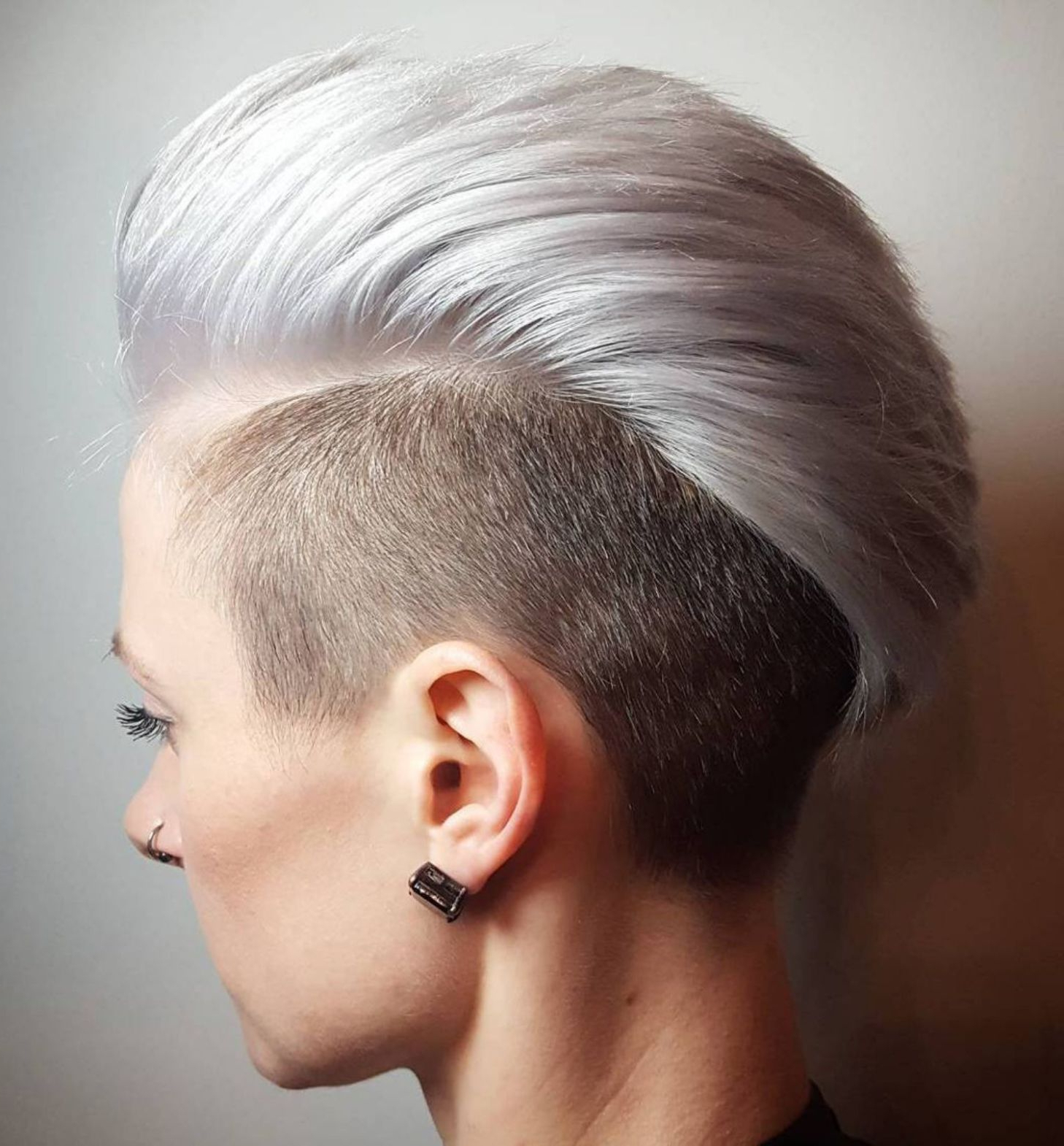 70 Most Gorgeous Mohawk Hairstyles Of Nowadays In 2019 Pertaining To Most Up To Date Classic Blonde Mohawk Hairstyles For Women (View 5 of 20)