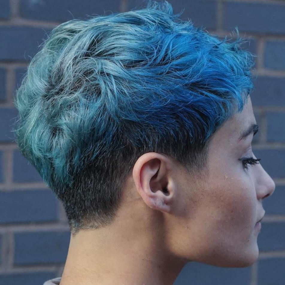 70 Overwhelming Ideas For Short Choppy Haircuts In 2019 Regarding Pastel Pixie Haircuts With Curly Bangs (View 2 of 20)