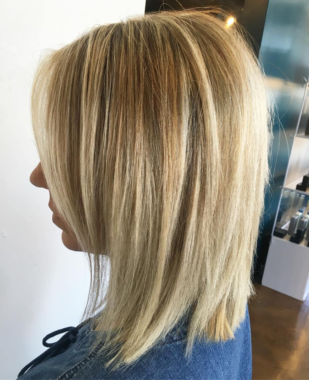 70 Perfect Medium Length Hairstyles For Thin Hair In 2019 In Blonde Bob Haircuts With Side Bangs (View 9 of 20)