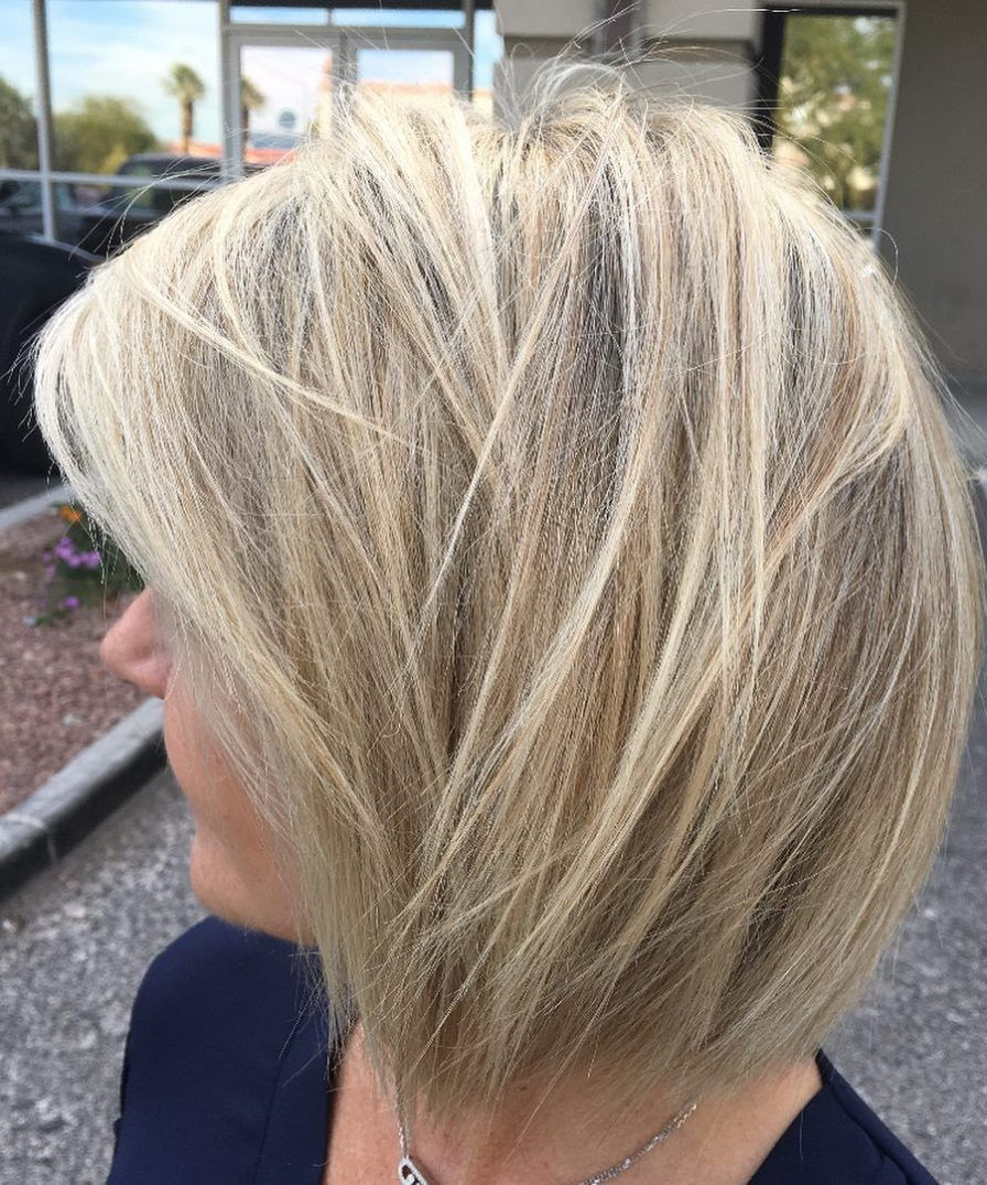 80 Best Modern Hairstyles And Haircuts For Women Over 50 Intended For Modern And Stylish Blonde Bob Haircuts (View 15 of 20)