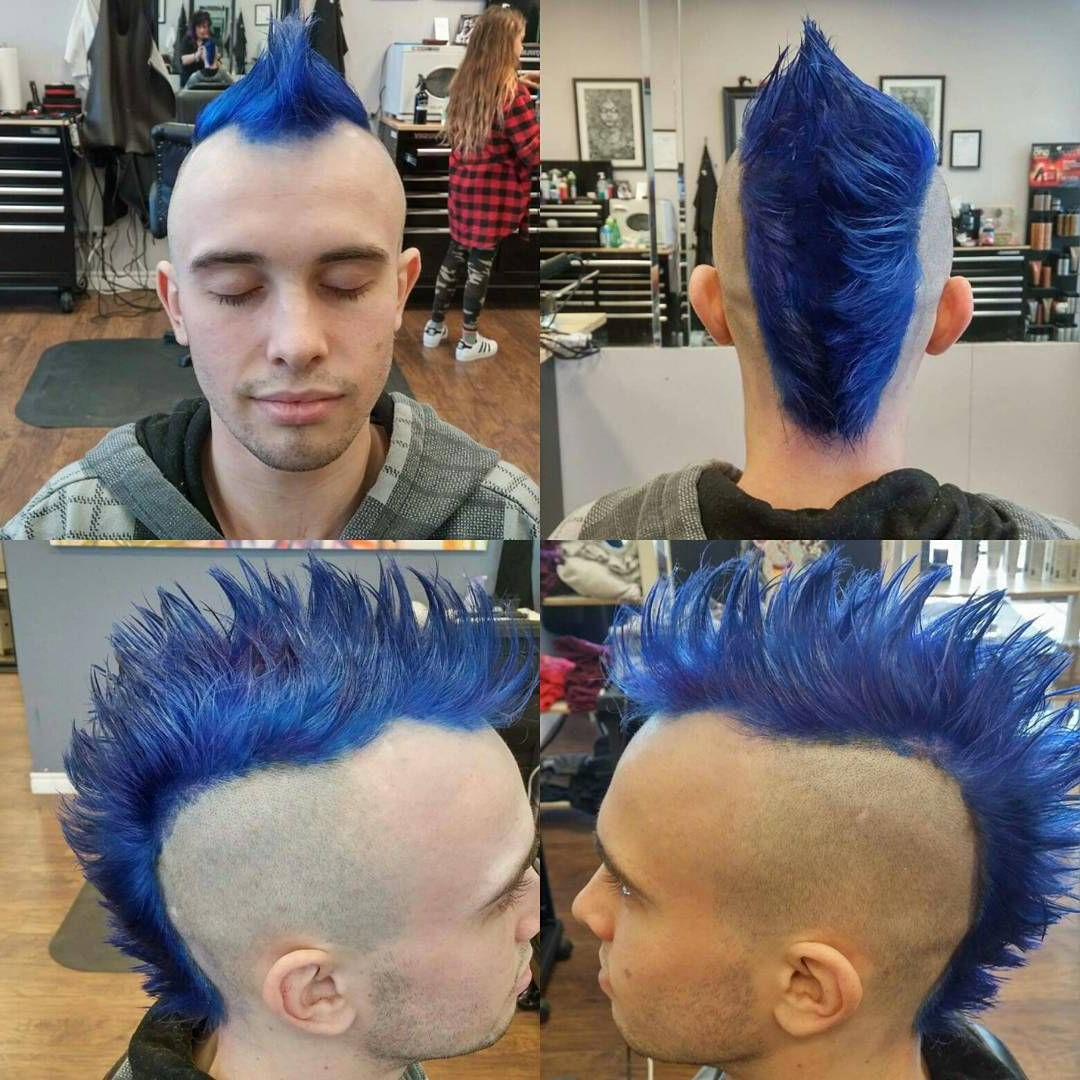 9 Me Gusta, 1 Comentarios – Ink Tegral Beauty For Recent Blue Hair Mohawk Hairstyles (View 3 of 20)