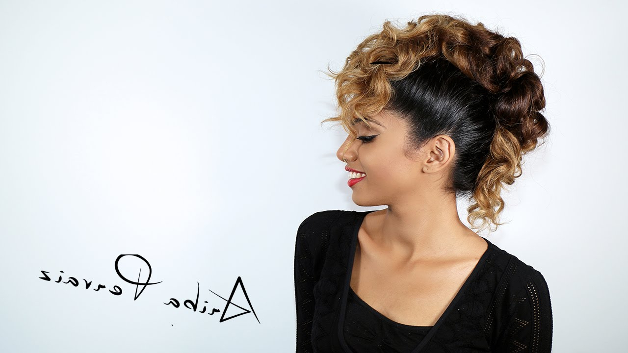 Ariba Pervaiz With Regard To Most Popular Curly Faux Mohawk Hairstyles (View 8 of 20)