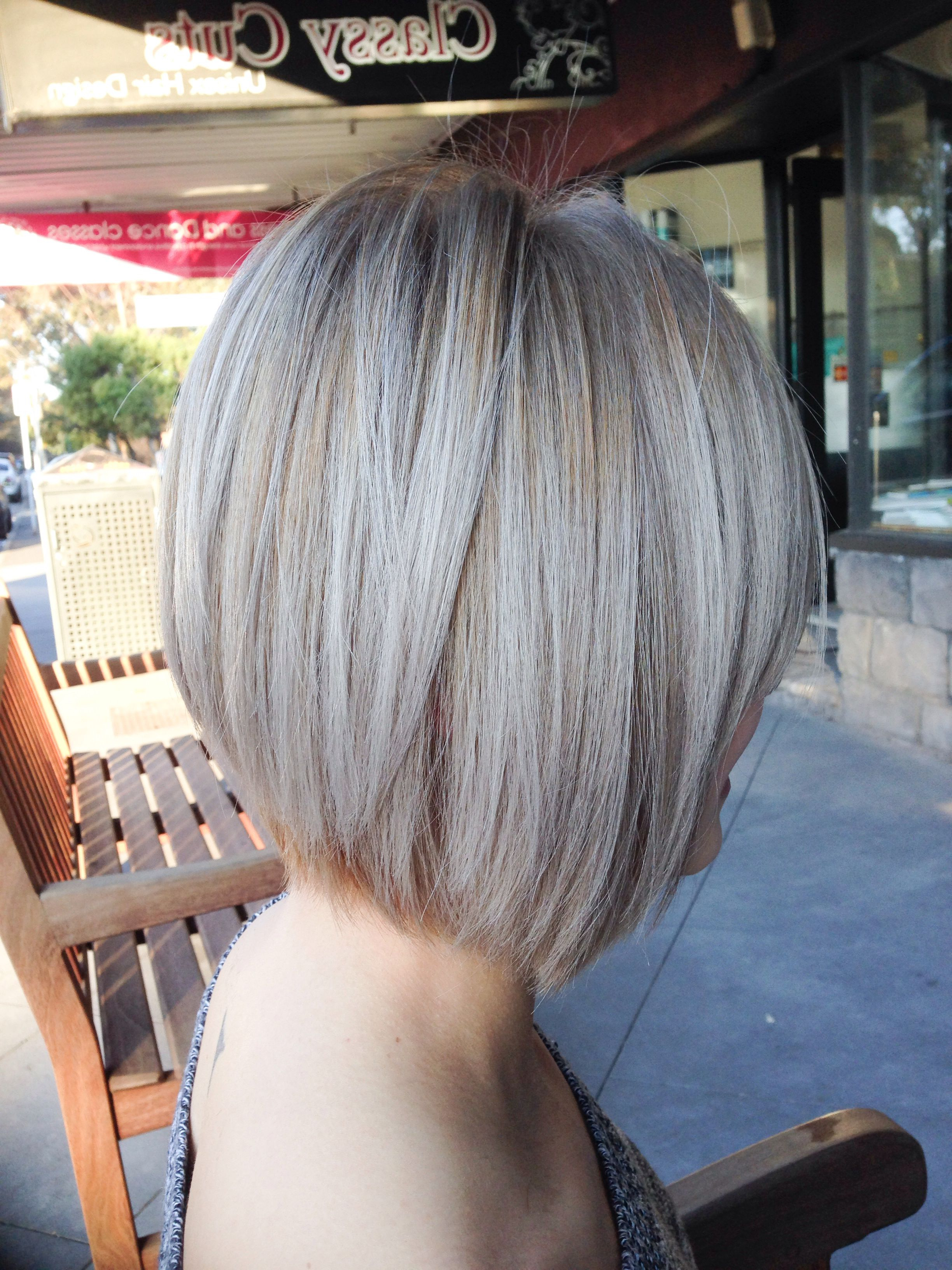Ash Blonde Highlights With Concave Bob (View 19 of 20)