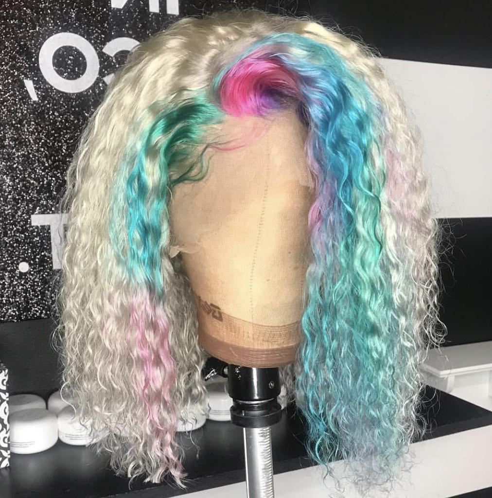Ashawnay ❣️| | F R O N T A L In 2019 | Hair Styles, Wig In Rainbow Bob Haircuts (View 18 of 20)