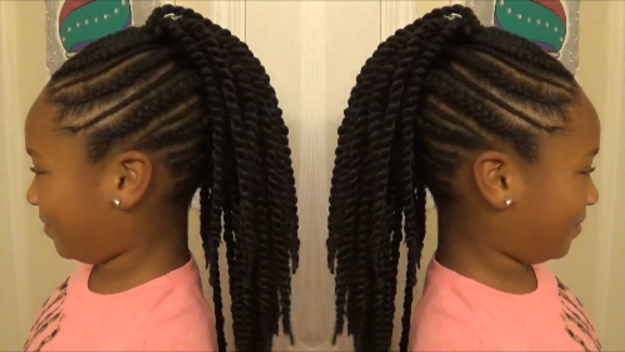 "Back To School 2017 ""slim Thick"" Braid Senegalese Twist Mohawk For Little Girls Intended For Current Twist Braided Mohawk Hairstyles (View 16 of 20)"