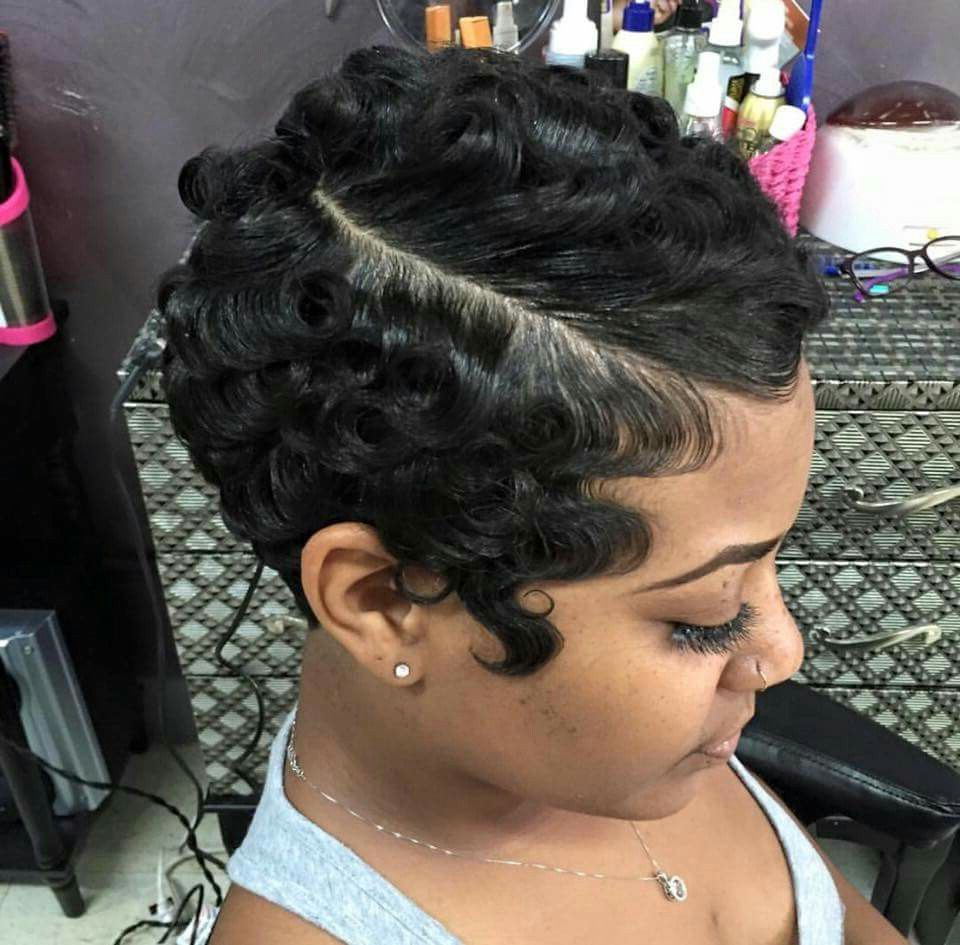 Beautiful Cut And Style | Fangaa Waves | Cabelo Raspado Regarding Short Pixie Haircuts With Relaxed Curls (View 2 of 20)