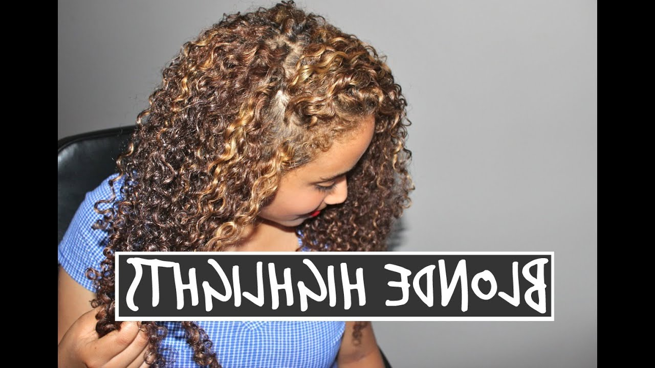 Black To Blonde Hair (part 2) – Dying Curly Hair Throughout Curls And Blonde Highlights Hairstyles (View 13 of 20)
