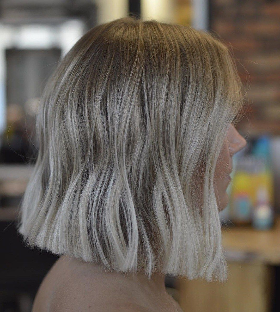 Blunt+Blonde+Balayage+Bob | Hair In 2019 | Blunt Bob In Blonde Blunt Haircuts Bob With Bangs (View 6 of 20)