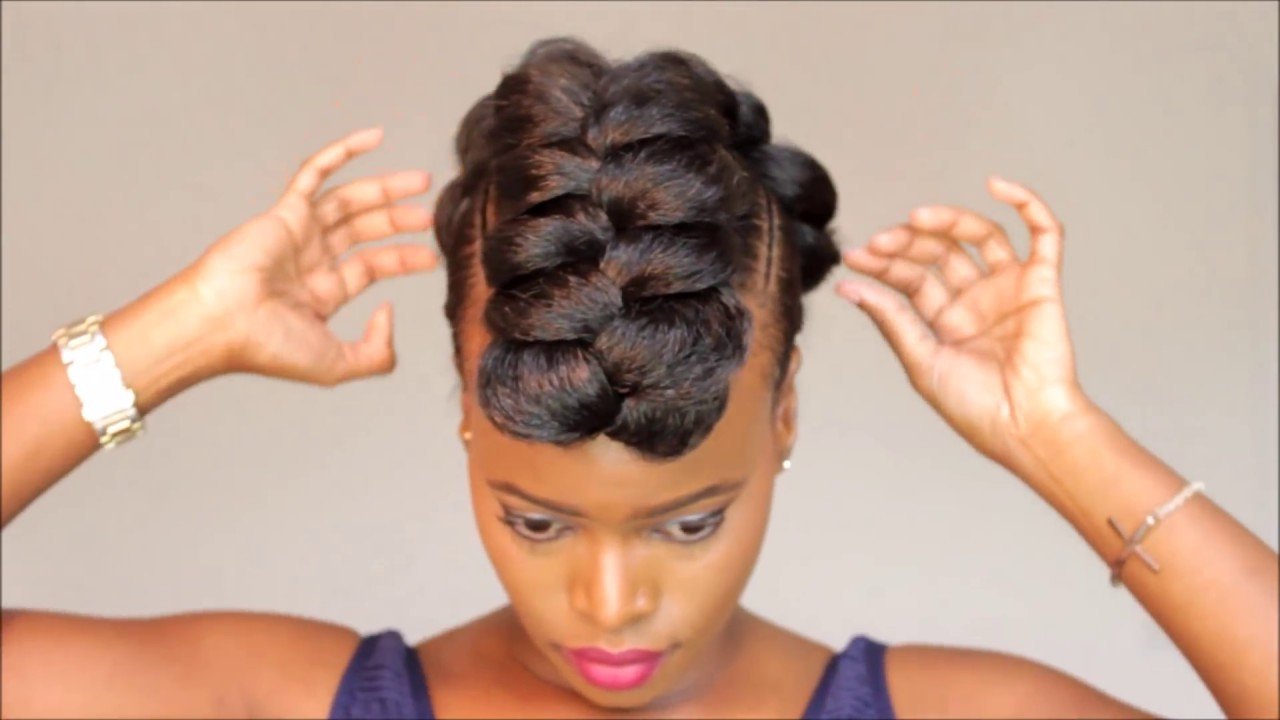 Braided Mohawk Protective Style Updo Throughout Most Current Braided Mohawk Bun Hairstyles (View 2 of 20)