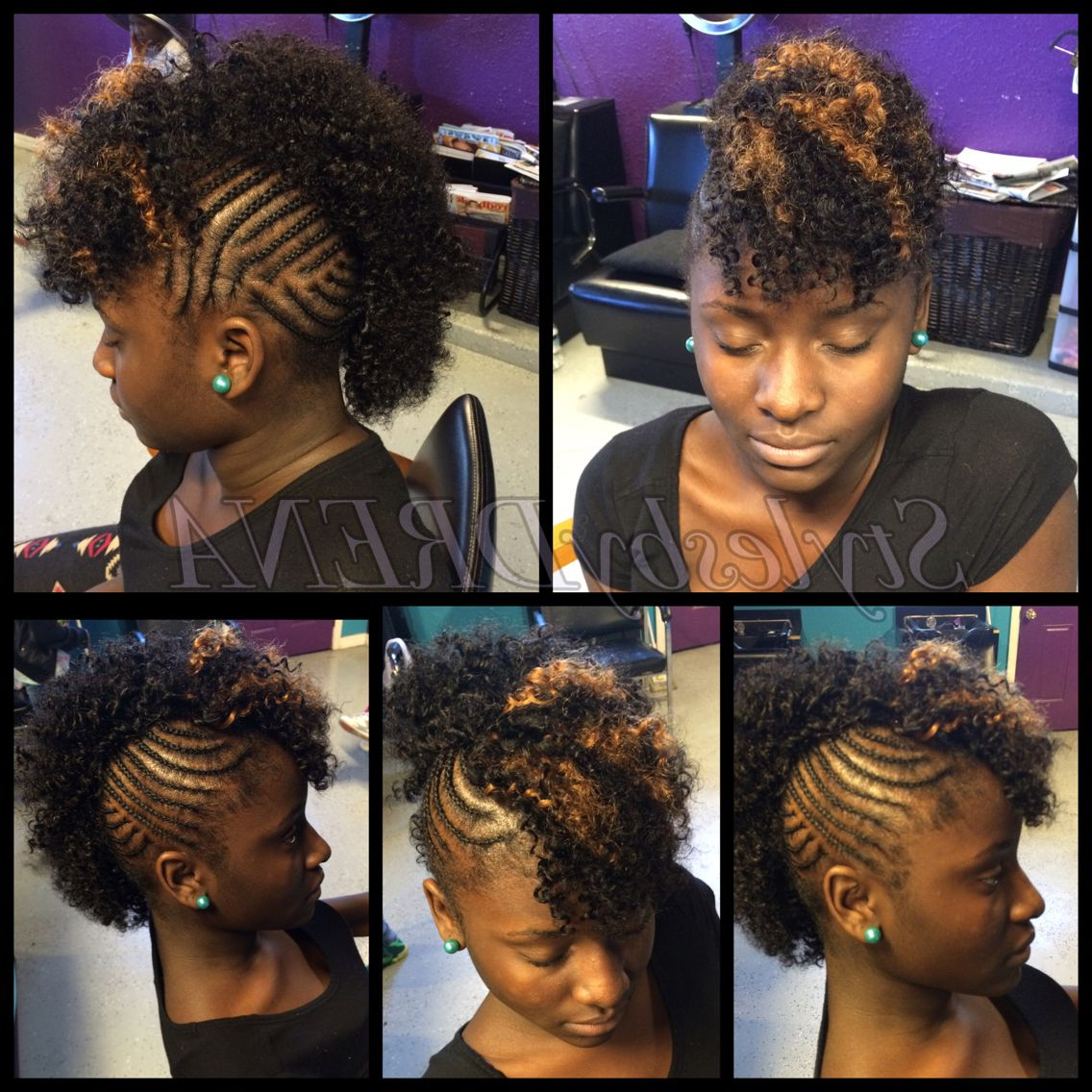 Braided Mohawk W/ Jerry Curl Sew In In (View 2 of 20)