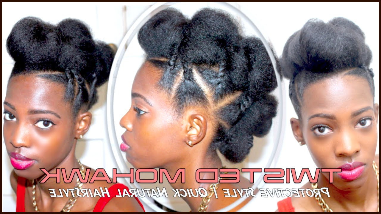 Braided Natural Mohawk Hairstyles – Short Dread Styles Within Preferred Twist Braided Mohawk Hairstyles (View 8 of 20)