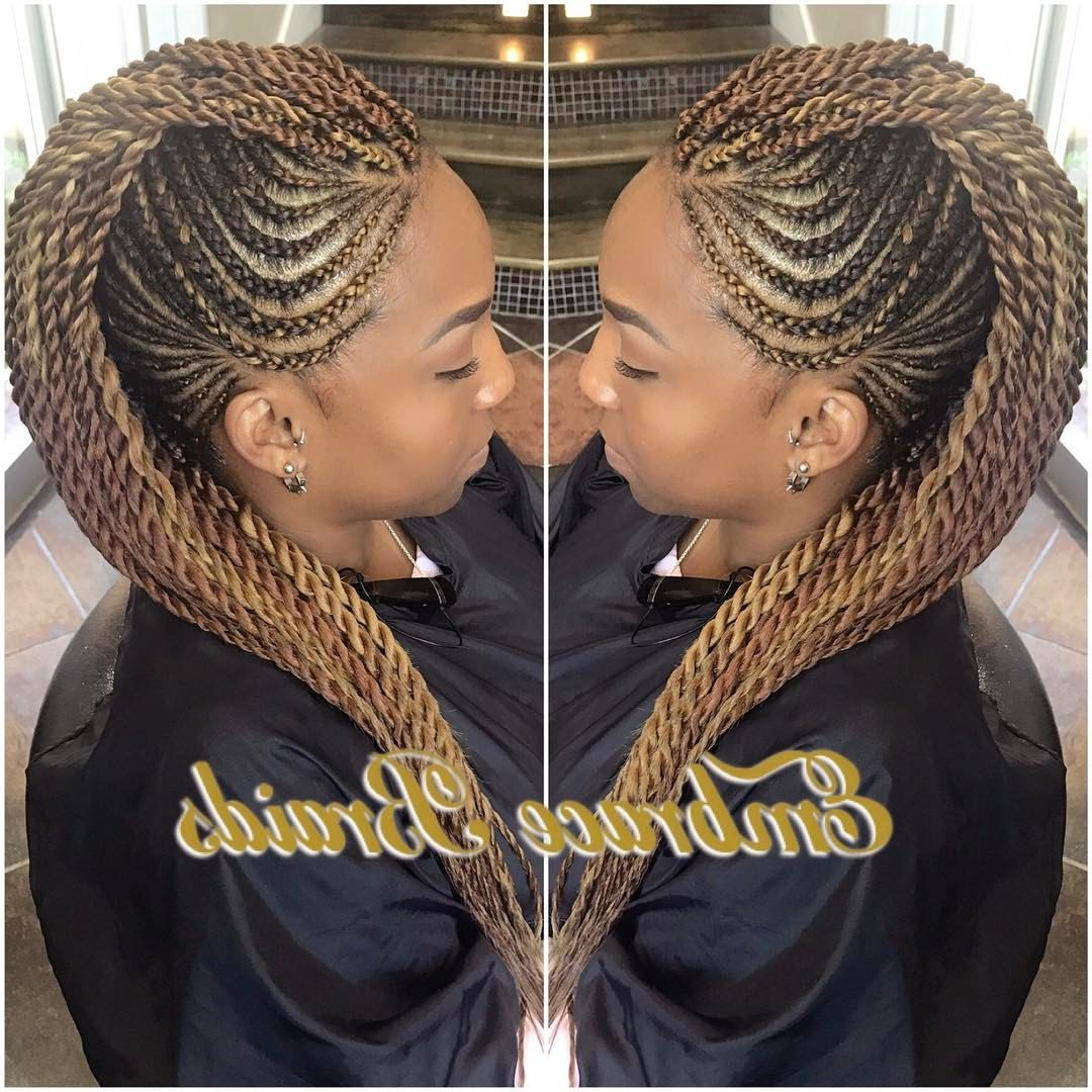 Braided Pertaining To Newest Fully Braided Mohawk Hairstyles (View 7 of 20)
