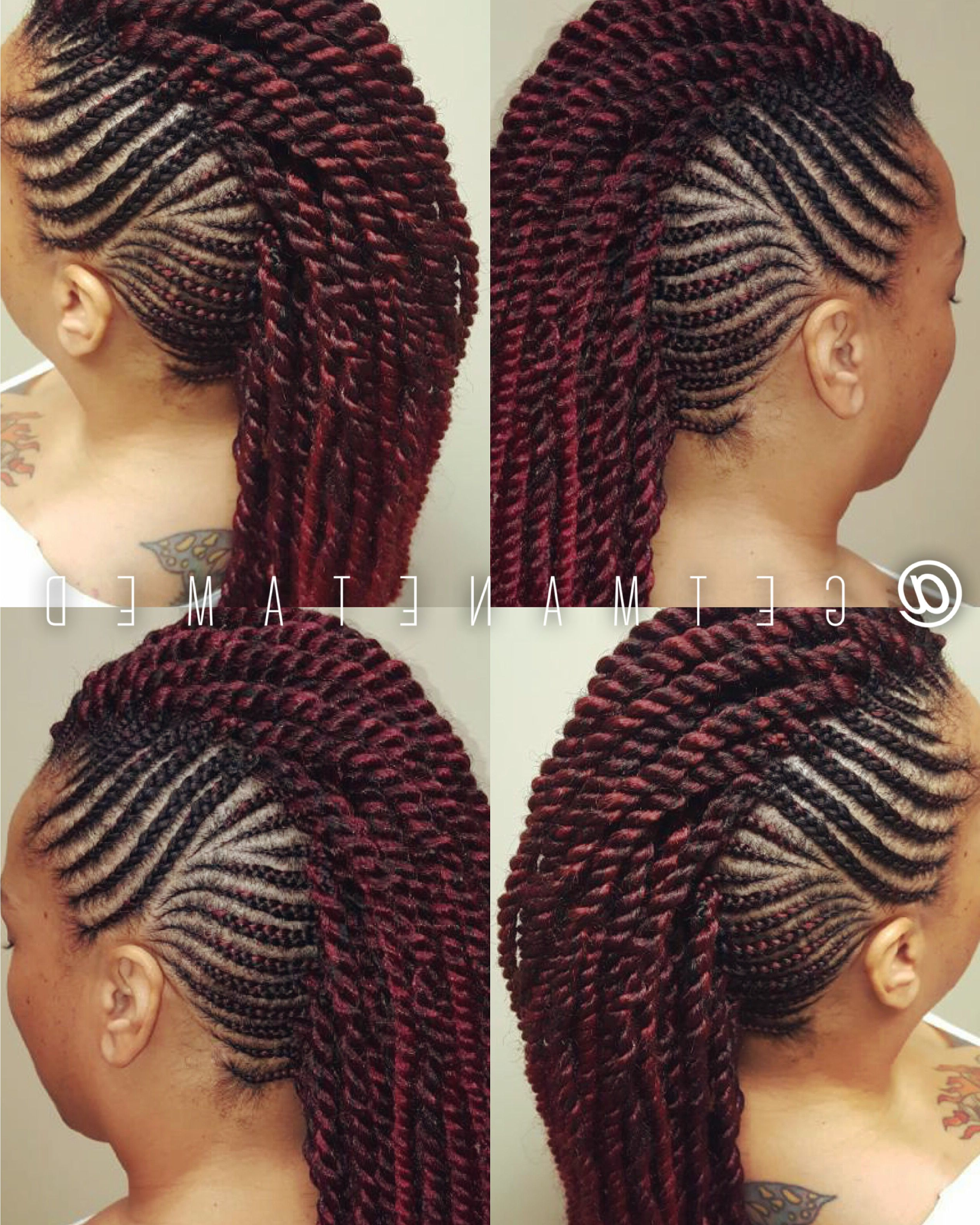 Braided With 2021 Fully Braided Mohawk Hairstyles (View 8 of 20)