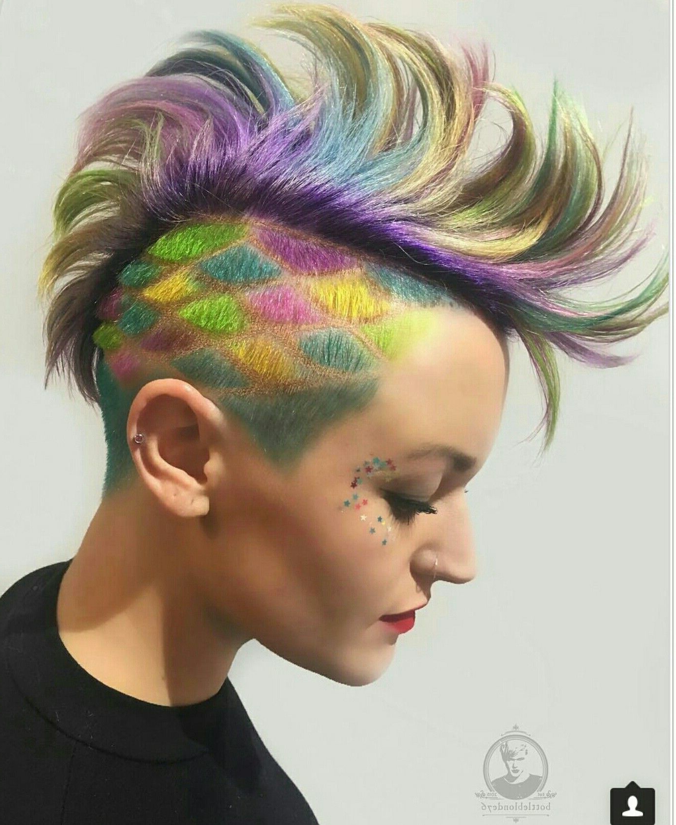 Bright Hair Colors, Hair In Preferred Blue Hair Mohawk Hairstyles (View 5 of 20)