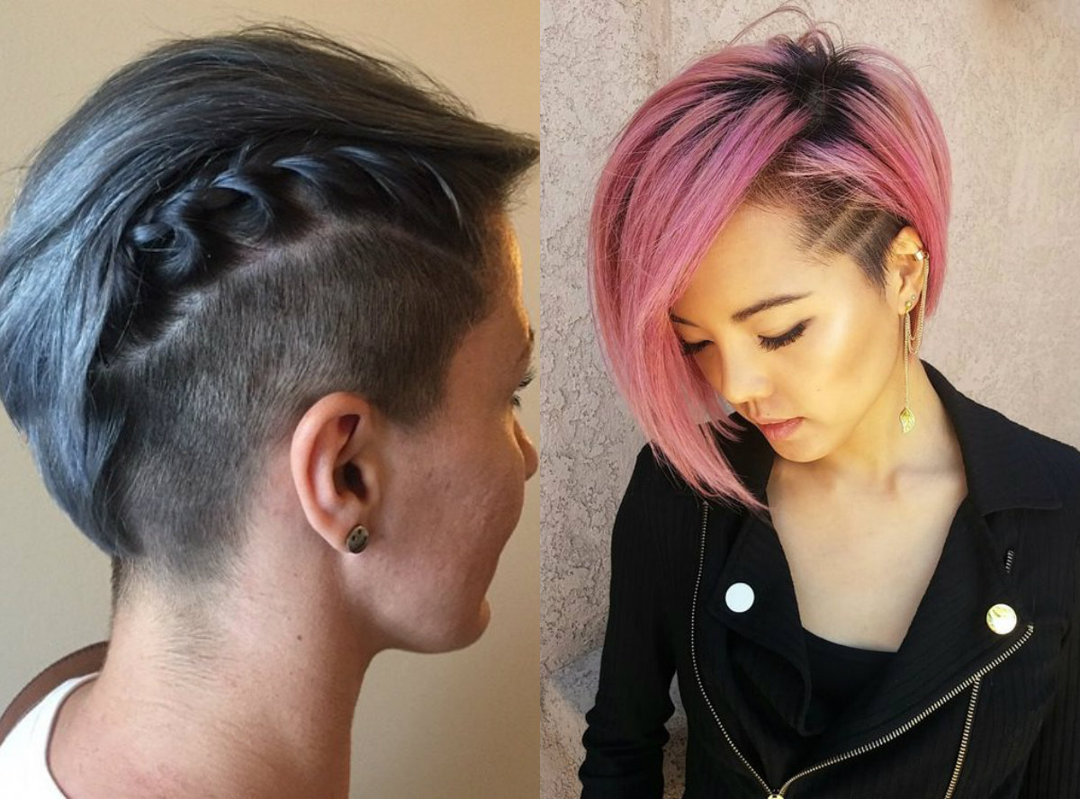 Crazy Undercut Bob Hairstyles To Try | Hairdrome For Pink Bob Haircuts (View 10 of 20)