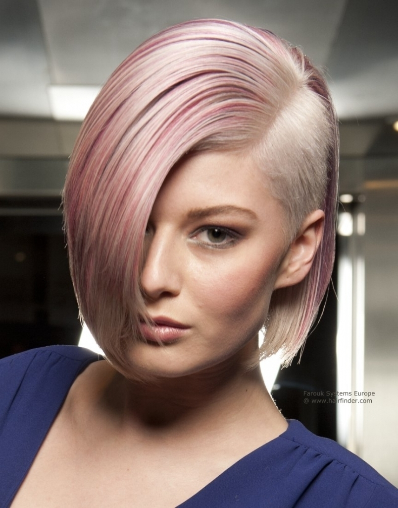 Crazy Undercut Bob Hairstyles To Try | Hairdrome Intended For Pink Bob Haircuts (View 11 of 20)