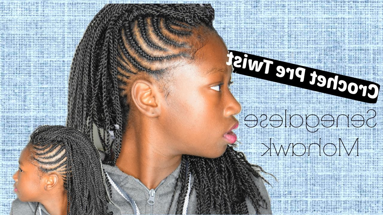 Crochet Pre Twisted Senegalese Mohawk Tutorial Within Widely Used Twisted Braids Mohawk Hairstyles (View 17 of 20)